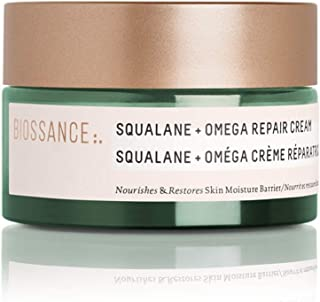 Biossance Squalane + Omega Repair Cream - Ultra-Rich Moisturizing Cream for Smooth, Plump Skin with No Greasy Feel - No Pa...
