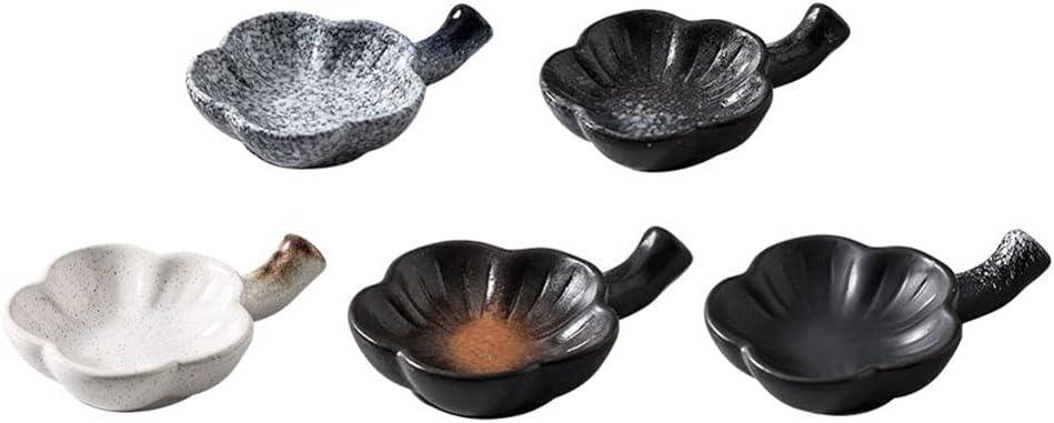 Luxshiny 5PCS Max 46% OFF Ceramic Dip Bowls Dishes Saucers B Seasoning trend rank Small