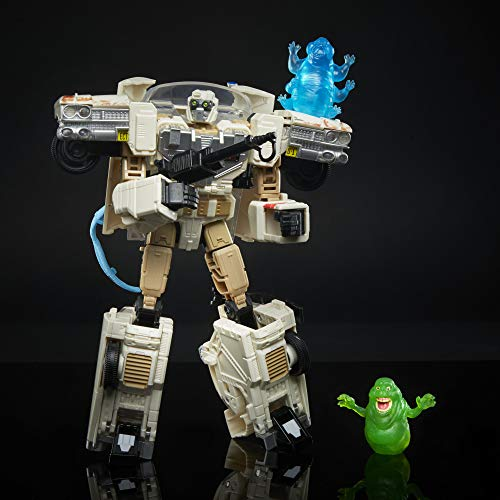 Juguetes Transformers Generations - Transformers Collaborative - Ghostbusters: El Legado - Ecto-1 Ectotron, Figura Convertible de 17,5 cm con Historieta