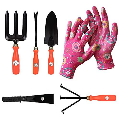 Kraft Seeds Garden Tools Set Trowel (Multicolour, 6 Pieces)