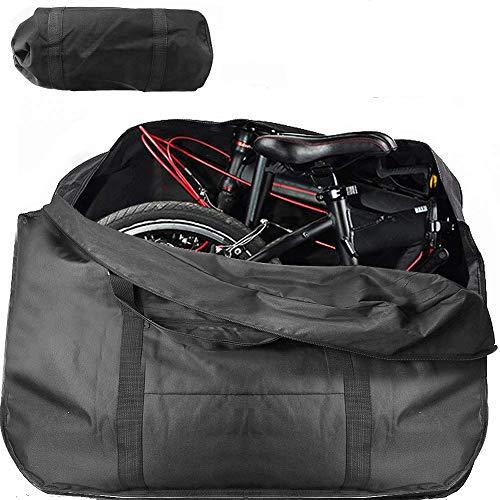 Wuudi Faltrad Tasche Dick Fahrrad Tragetasche, Fahrrad Transportkoffer wasserdichte Fahrrad Reisetasche für Transport, Flugreisen, Versand (14 Zoll bis 20 Zoll)