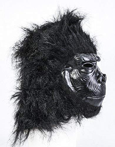 Noir Gorille Masque Latex Jungle Safari Animal Déguisement Halloween' Coopers TM '