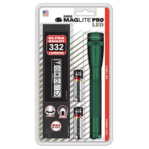 Maglite 332 lumens Green LED Mini Flashlight AA Battery