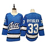 Aitry Dustin Byfuglien Winnipeg Jets Traje de Hockey sobre Hielo, 33, Sudadera NHL para Hombre, Manga Larga Transpirable, Camiseta