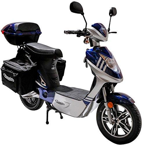 Rolektro eco-City 45 Plus Blau-Silber Elektroroller 45 Km/H Straßenverkehrszulassung 500W Keine Helmpflicht