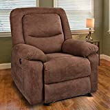 MAGIC UNION Overstuffed Fabric Electric Recliner Chair Heated Vibration Massage Sofa with USB Charge Port Home Theater...