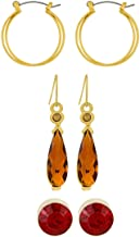 Scarlet Bijoux Brass Claudia Earrings Set