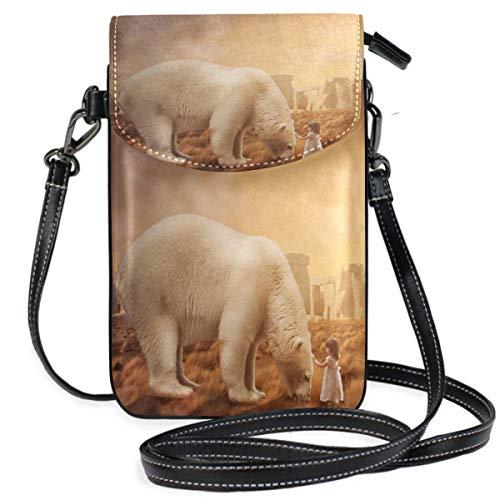 XCNGG bolso del teléfono Sea Polar Bear Cell Phone Purse Crossbody Bag Pouch Shoulder Bags Wallet for women Girls Travel Wedding