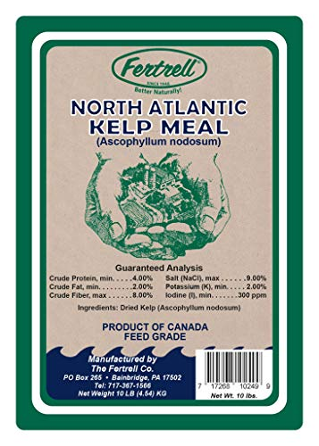 Kelp Meal for Plants and Animals, Organic Fertilizer and Feed Supplement, 10lb or 50lb