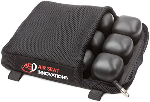 ASI - Motorcycle Air Seat Cushion, Rear or Small Seat Size, Extends Ride time and Increases Circulation, Reduces Vibration, 12' X 9.5' x 2'