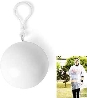 Xiton キーホルダー キーチェン ペンダント フード付きマント時間がキーチェーンポータブルレインコートボールボールフィッティングに緊急野外活動レインコートポンチョ、白いボールのパッキング