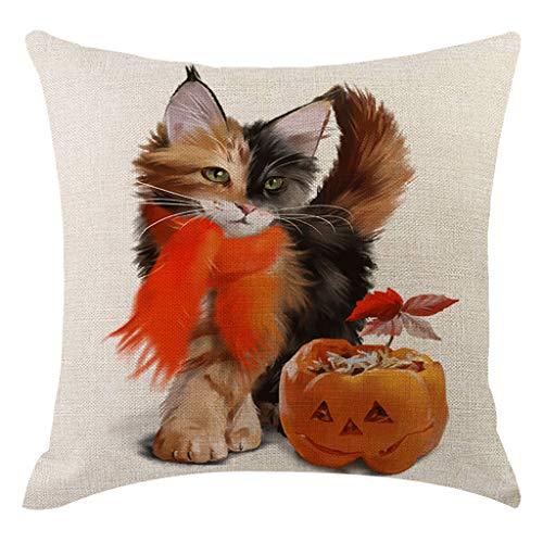 Arystk Pillow Cover Halloween Pumpkin Pillowcases Decorative Sofa Cushion Cover