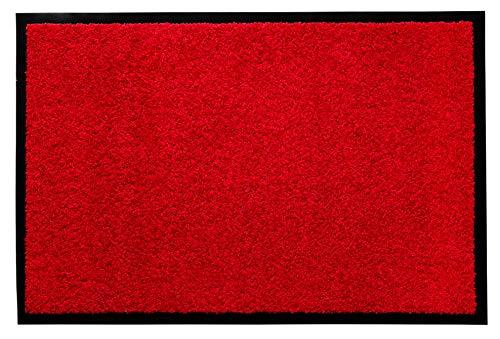 andiamo Fußmatte Verdi Türmatte Sauberlaufmatte für Innen- und überdachte Außenbereiche mit rutschhemmender Rückseite Fußabtreter 80 x 120 cm rot