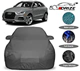 DRIZE™ Prime Quality Car Body Cover for Audi Q3 with Mirror Pockets-Triple Stitched-Fully Elastic-Ultra Surface Body Protection (Grey Look)