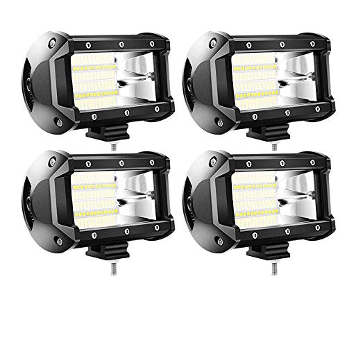 4 X 72W LED arbeitsscheinwerfer Offroad 10-30V Quadrat Scheinwerfer Weiß 7200LM Arbeitslicht Flutlicht für SUV UTV ATV Arbeitslampe