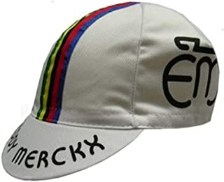 APIS Eddy Merckx Vintage Cotton Cycling Cap - Bicycle Cap Outdoors Anti Sweat White