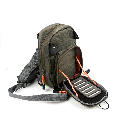 FanBell Fly Fishing Chest Pack Lightweight Chest Bag,Fishing Tackle Bag Crossbody Messenger Sling Bags Without Tools