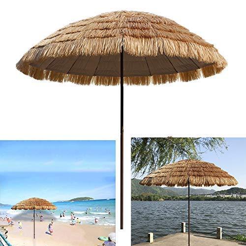 LNDDP 8,2ft Hawaiian Tiki Regenschirm, Pool Patio Sonnenschirm, Stroh Tiki Sonnenschirm - Dekoration - UV-beständig