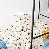 LA MALLORQUINA Juego Funda nórdica Algodón 3p - Loro (Cama 105 cm - Amarillo)