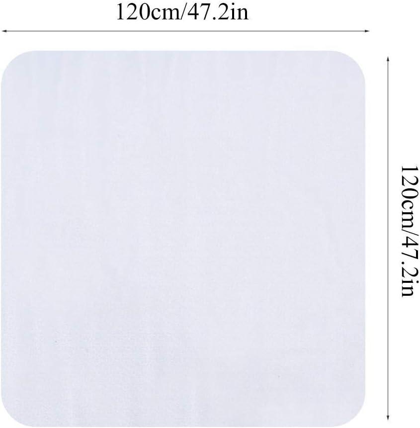 sedia due misure a scelta Zerone- Tappeto protettivo per pavimento trasparente rettangolare per soggiorno 120 x 120 ufficio