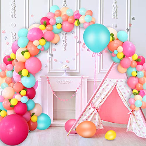 AivaToba Juego de globos de arco iris,guirnalda de globos para fiestas de...