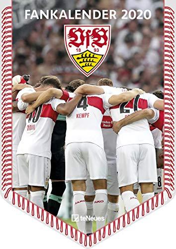 VfB Stuttgart 2020 Bannerkalender - 29,7x42cm - Fußballkalender - Wandkalender