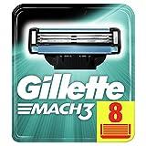 Gillette Mach3 Lames de Rasoir Homme, Pack de 8 Lames de Recharges [OFFICIEL]