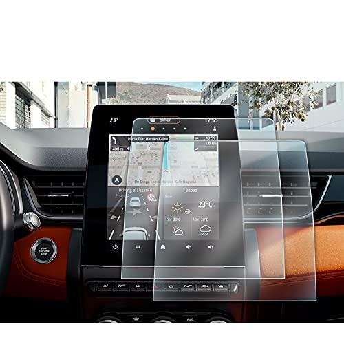 LFOTPP Clio 5 9.3 Zoll Navigation Schutzfolie, GPS Navi PET Transparenter Bildschirmschutzfolie Kunststoff Folie 2 Stück