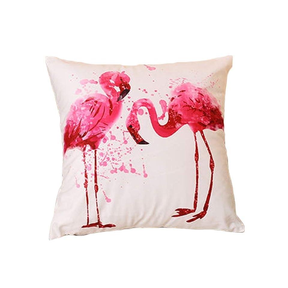 矛盾するながらぶどう枕カバー ファッション フラミンゴ 熱帯 花 鳥 葉 プリント スクエア枕 枕カバー コンフォート (#10, 40cm*40cm)