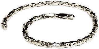 "18k Solid White Gold Anchor Mariner Link Chain bracelet 3.1 MM 10 grams 7"""