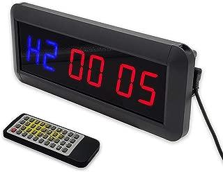 LIYIXIU 1.5 Inch Char High LED Gym Clock For Home (RB)