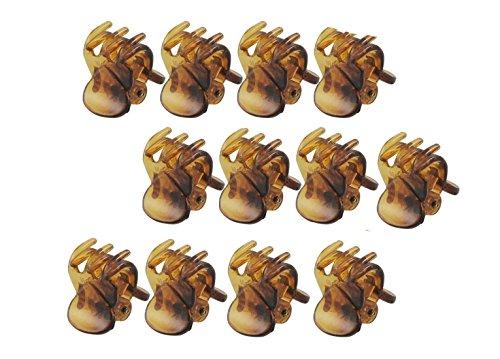 Homgaty Lot de 12 Pinces à cheveux 6 griffes en plastique - Pour femme