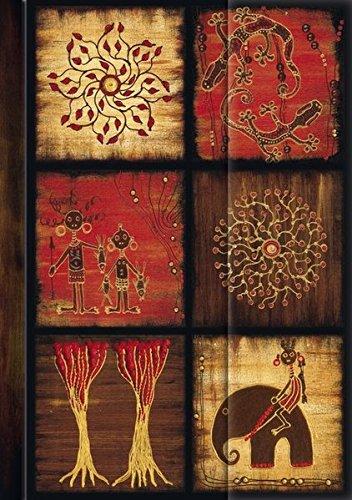 """Premium Address Book Big """"African Art - Mosaik III"""": Adressbuch mit hochwertiger Folienveredelung"""
