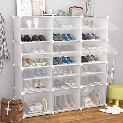 Venture Horizon Triple Shoe Cabinet in Multiple Finishes-Black - Black