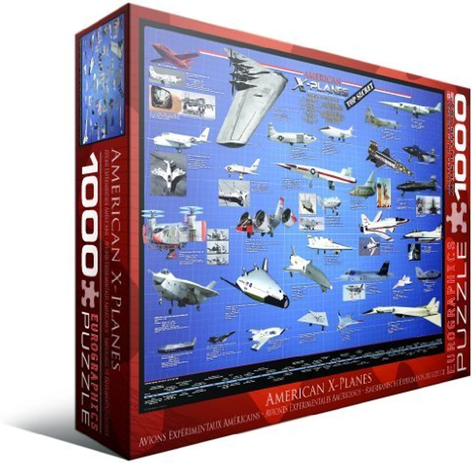 EuroGraphics American Aviation XPlanes 1000 Piece Jigsaw Puzzle by Eurographics