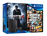 PlayStation 4 (PS4) - Consola De 1 TB + Uncharted 4: A Thief's End + Grand Theft Auto V