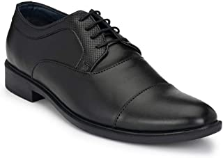 Park Avenue Solid Pattern Black Coloured Synthetic Men's Formal Shoes