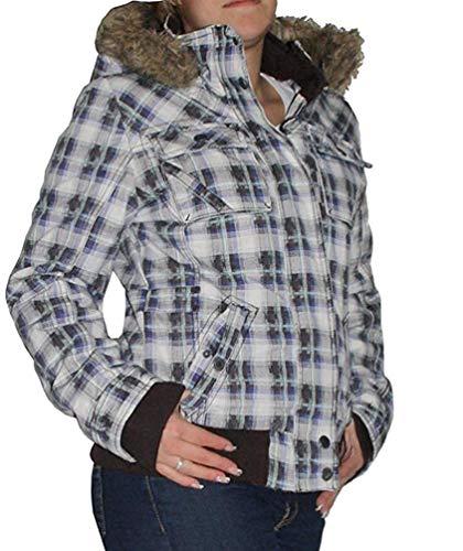 Urban Surface Trendy dames winterjas maat XS-XL jas korte jas Parka geruit
