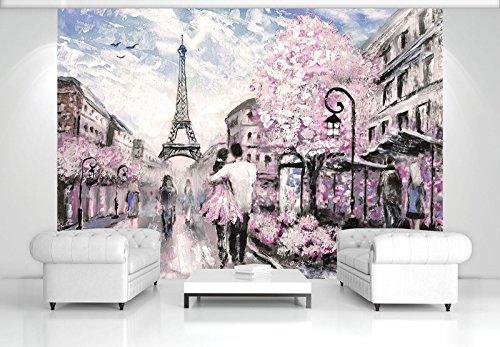 FORWALL Fototapete Vlies - Tapete Moderne Wanddeko Paris VEXXXL (416cm. x 254cm.) AMF11470VEXXXL Wandtapete Design Tapete Wohnzimmer Schlafzimmer