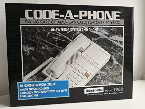 Code-A-Phone 1960 analoges Telefon und integriertem Anrufbeantworter mit Mikrokassette (schwarz)