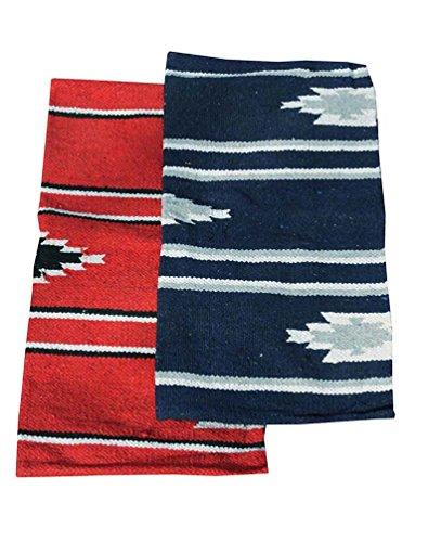 Reitsport Amesbichler Westernpad blau Pony Sattel Navajo Decke 26 x 26 Inch, 66 x 66 cm Western Satteldecke für Ponysättel Saddle Blanket