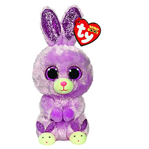 Ty UK Ltd 36246 Beanie Fuzzy Bunny Easter-Boo-Reg, Multicoloured