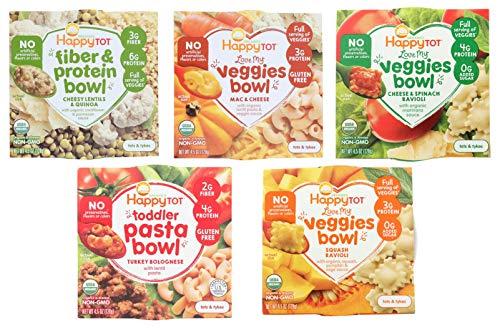 Happy Tot Organic Bowl Veggies Pasta VARIETY Sampler Try all 5 bowls Mac Cheese Ravioli Pasta Lentil...