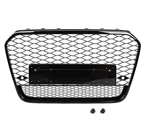 Xinshuo ABS Tipo de Panal de Rejilla Rejilla del radiador Delantero para RS6 Estilo A6 / S6 2012-2015 1 Paquete