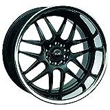 xxr wheels 526 - XXR WHEELS 526 Rim 18X9 5X114.3/5X120 ET35 Blk/Sainless Steel Chrome (Qty of 1)