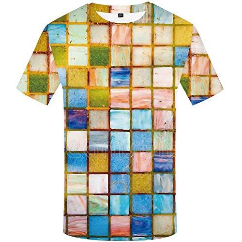 CHEMOXING Marca Rubik S Cube T-Shirt Hombres Camisetas Cuadradas 3D Rusia Camisa Imprimir Geométrica Anime Ropa Harajuku Camisetas Casual-XXXL