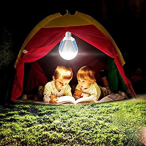 Luz solar de camping, lámpara impermeable colgante de la tienda, lámpara al aire libre para acampar, senderismo, con control remoto, USB de emergencia del teléfono móvil