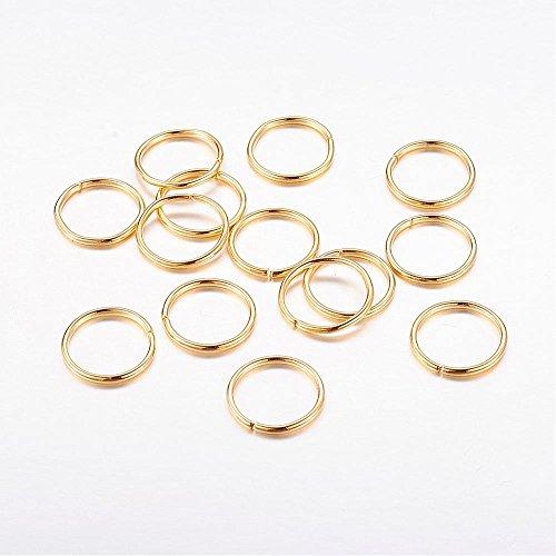 AB-Fashion 07 Lot de 40 Roues Souples 9 mm Or 9 x 0,75 mm