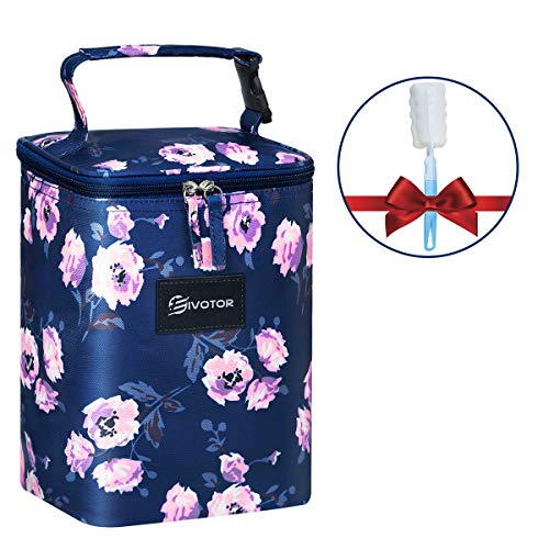 Great Features Of Insulated Breastmilk Cooler Bag, EIVOTOR Baby Bottle Cooler & Travel Bag for up to...