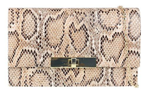 Para mujer del estampado de animales del bolso de embrague (Piel de Serpiente)